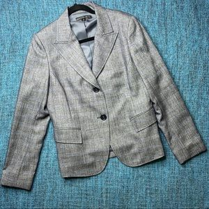 Lafayette 148 New York Gray and Blue Blazer Jacket